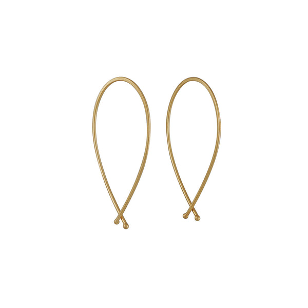 Carla Caruso - Medium Ribbon Hoops