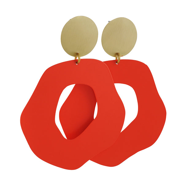 Sibilia - Mancha Earrings in Coral