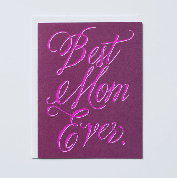 Banquet Workshop- Hot Pink Best Mom Ever Card