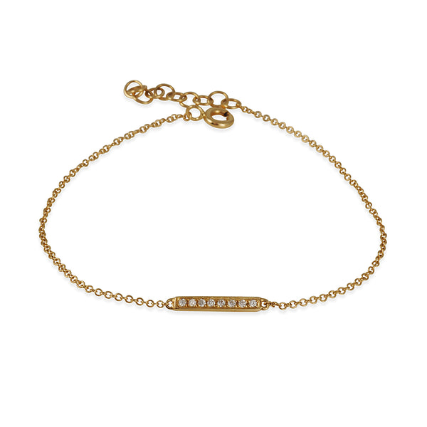 CP Collections - Small Diamond Bar Bracelet