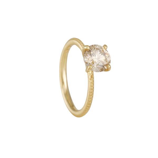 Jennifer Dawes - Clover Solitaire with Champagne Diamond