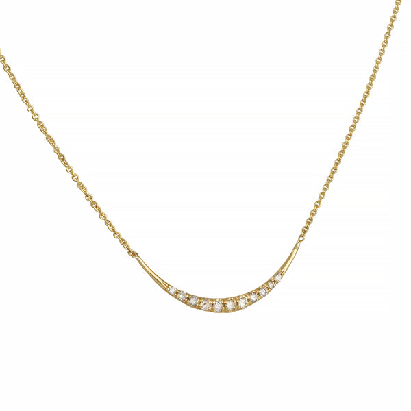 Diana Mitchell - Pave Diamond Arch Necklace in 18K Gold