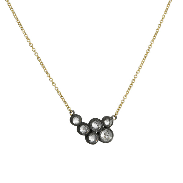 TAP by Todd Pownell - Six Bezels Necklace With Inverted Diamonds
