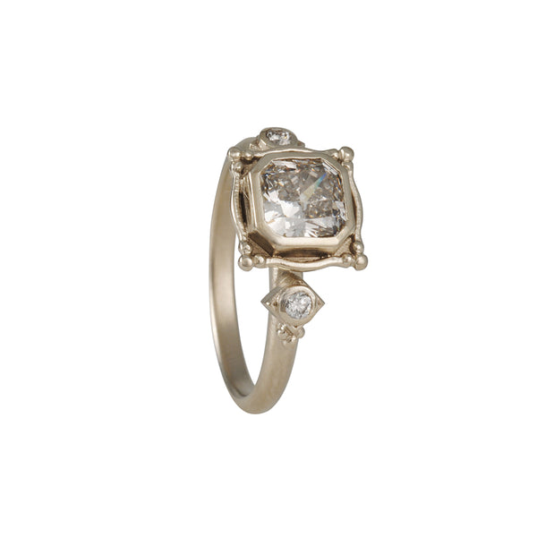 Megan Thorne - Picture Frame Ring with Radiant Cut x Diamond Foundry