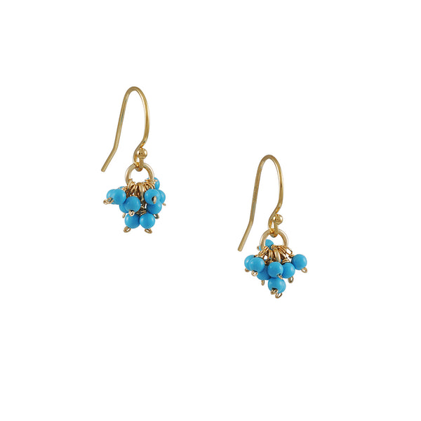 Christina Stankard - Turquoise Cluster Earrings