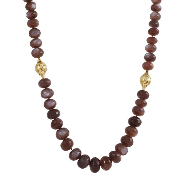 SALE - Chocolate Moonstone Necklace