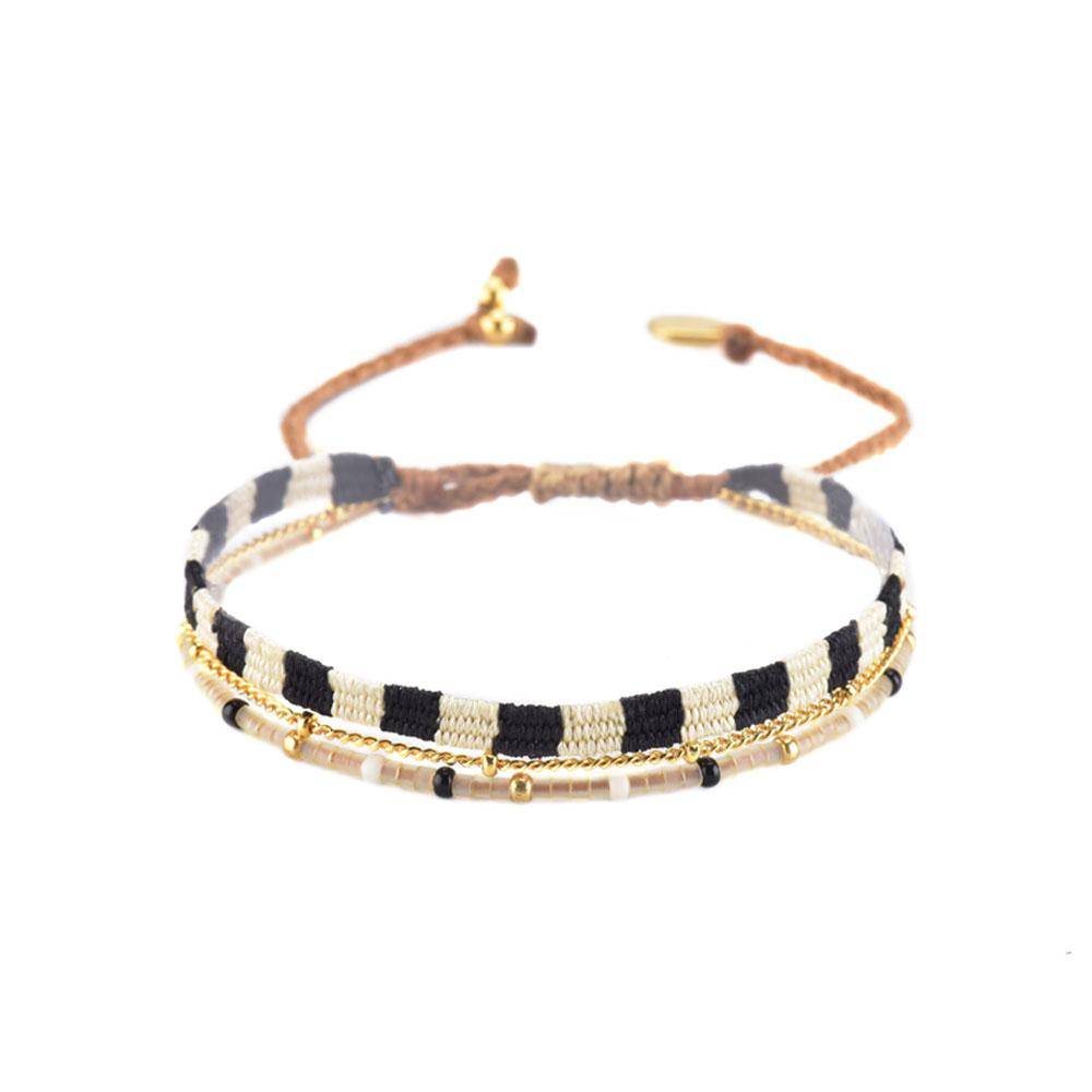 Mishky - Maya Bracelet With Black and White Color Palate