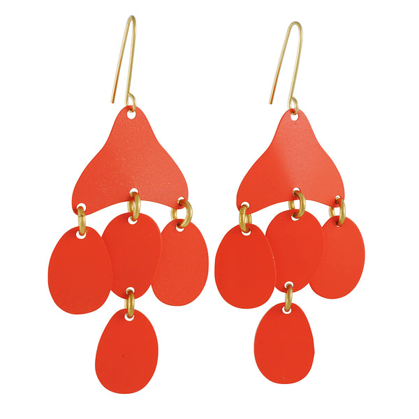Sibilia - Medusa Earrings in Coral