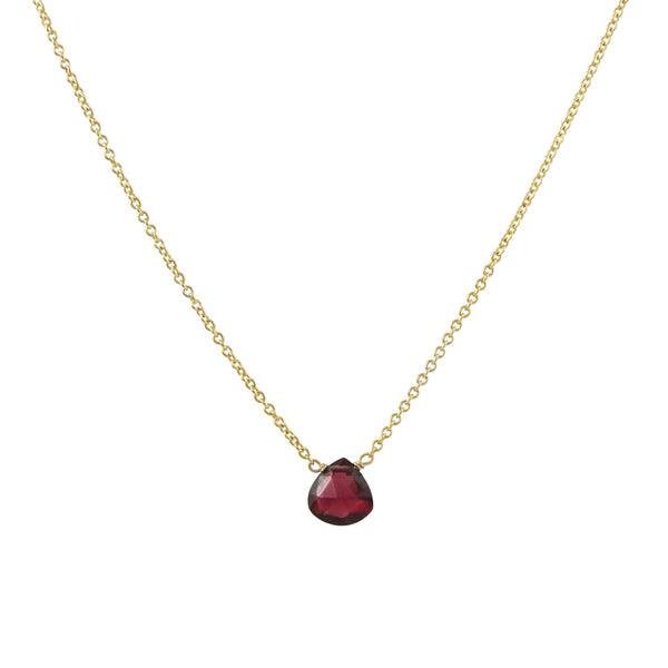 Danielle Welmond - Baby Garnet Drop Necklace