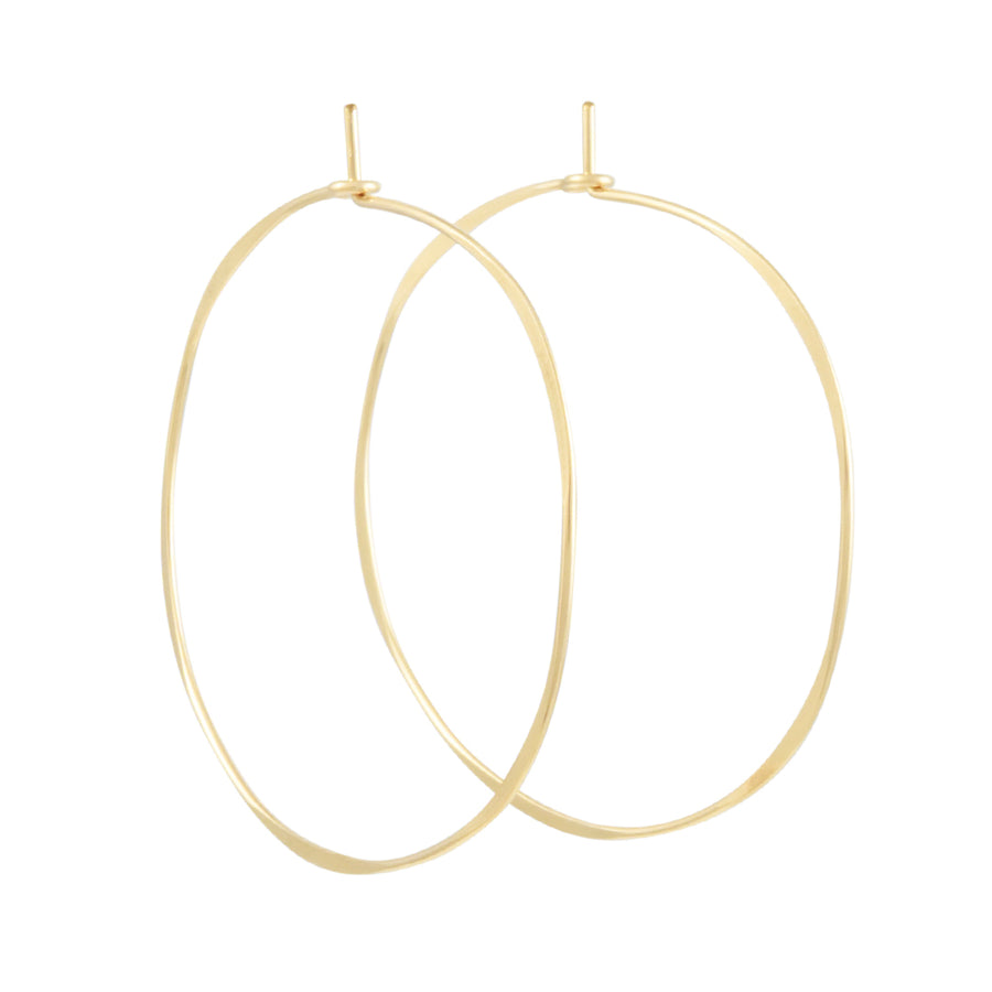Christine Fail - Extra Large Round Hoop Earrings in Goldfill