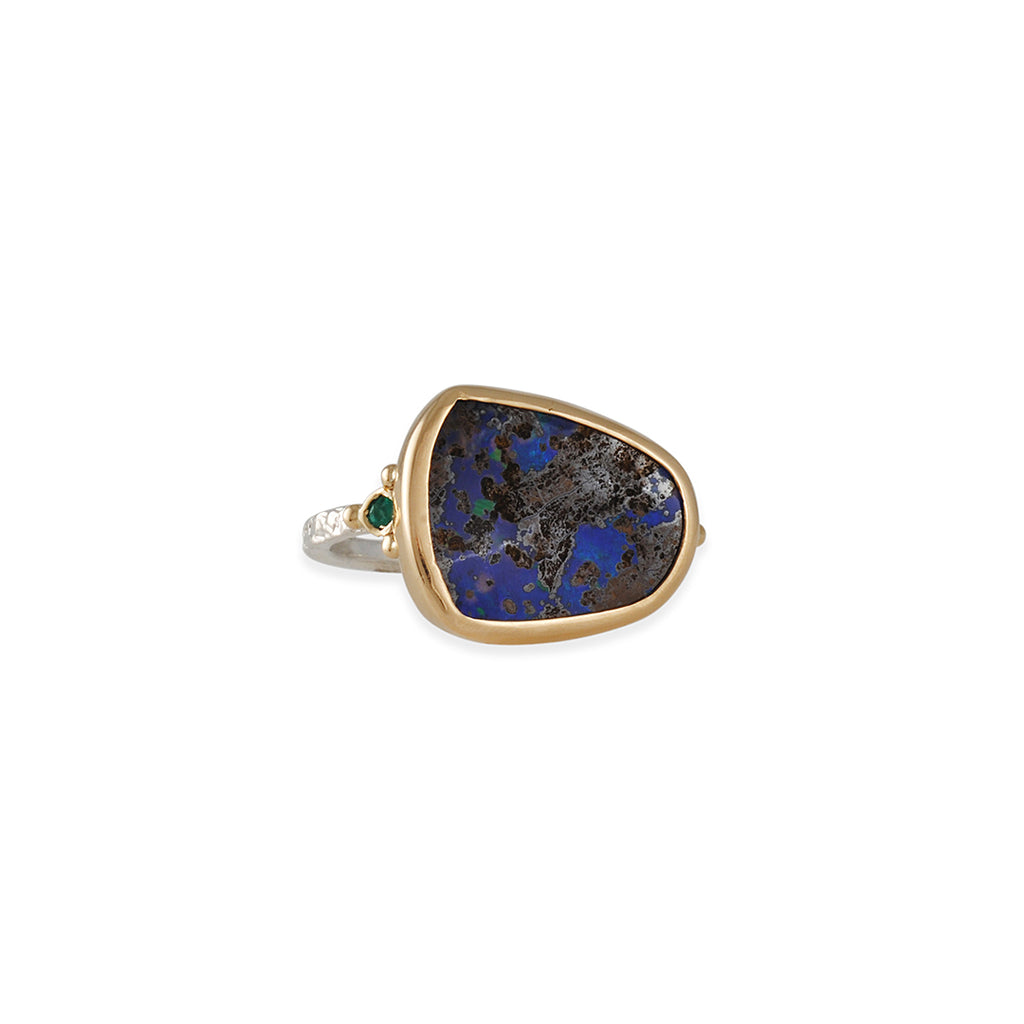 Emily Amey - Opal and Emerald Ring