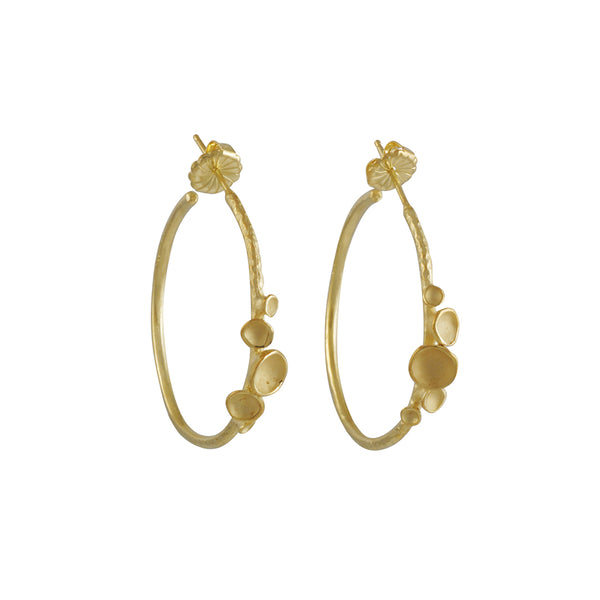 Sarah Richardson - Large Rhythm Hoop Earrings in Vermeil