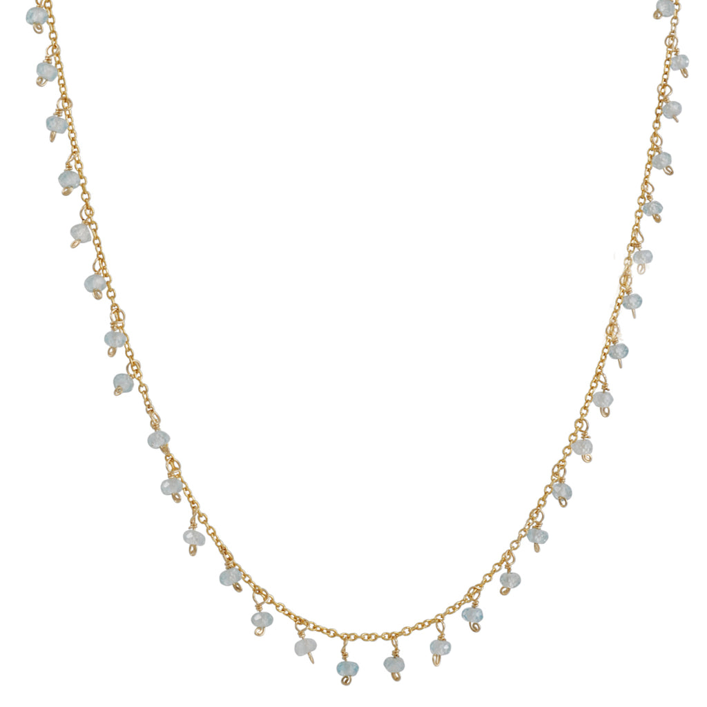 Christina Stankard - Aquamarine Fringe Necklace