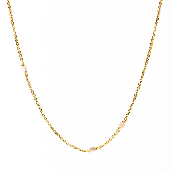 Carla Caurso - Slinky Random Diamond Necklace in 18K Yellow Gold, 16""