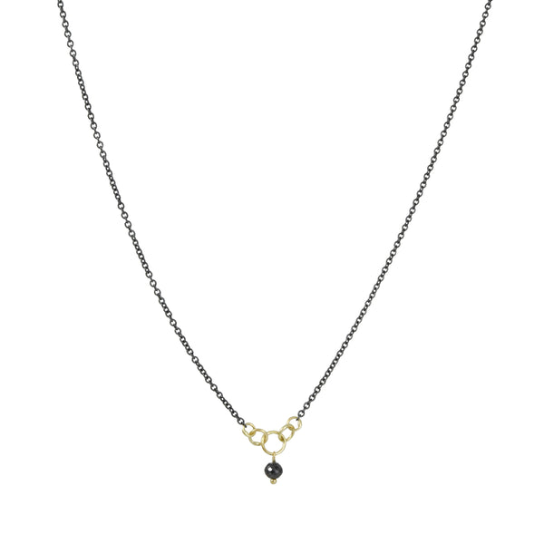 Sarah McGuire - Minnow Necklace with Black Diamond