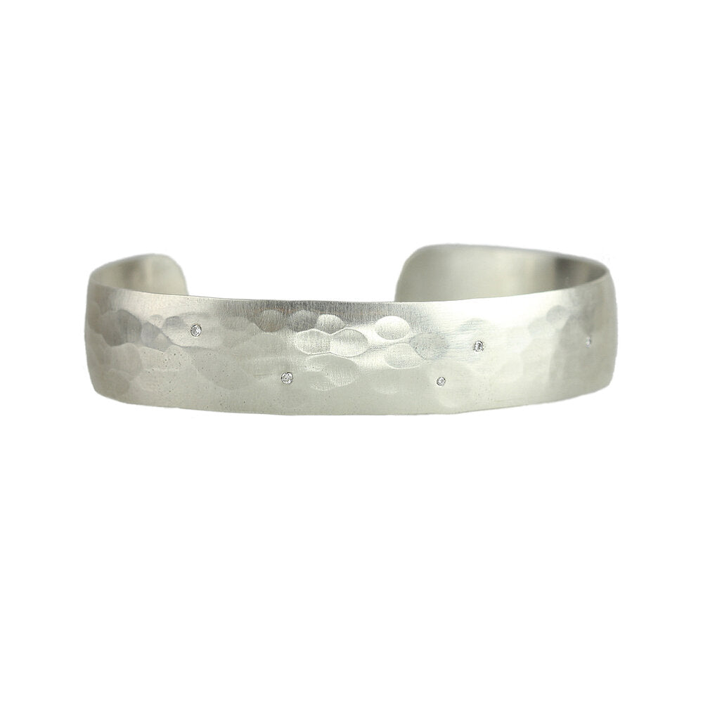 Sarah McGuire - Aurora Cuff With Scattered Diamonds