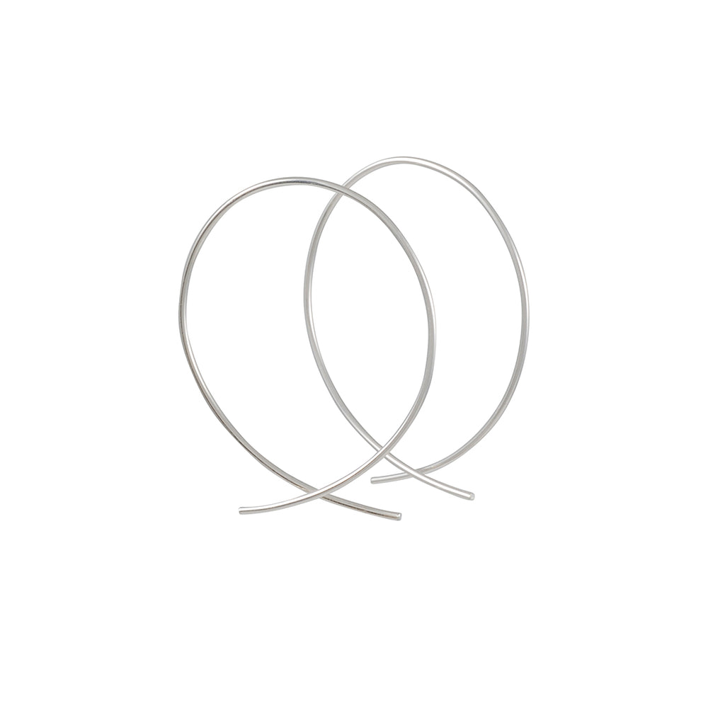 8.6.4 - Fish Hoops in Sterling Silver