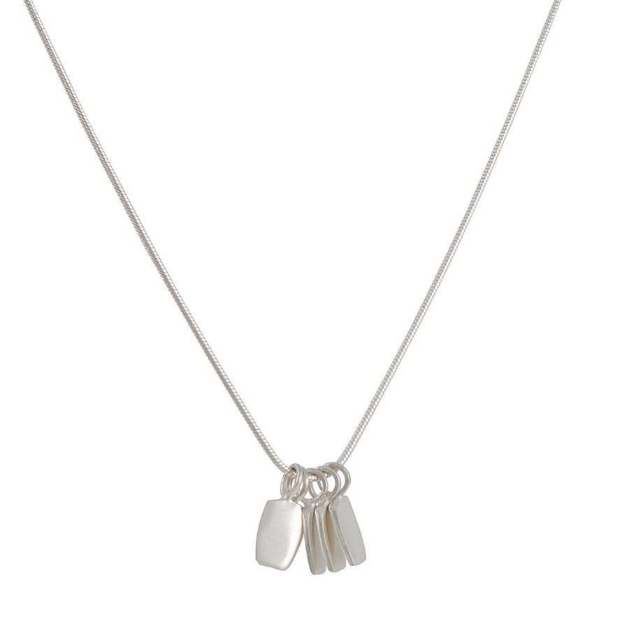 Philippa Roberts - Five Little Silver Tabs Necklace in Sterling Silver