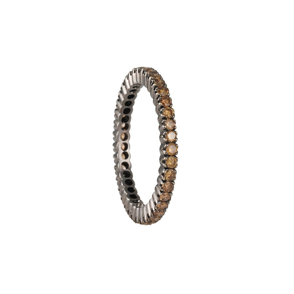 Sethi Couture - Cognac Diamond Eternity Band in Black Gold