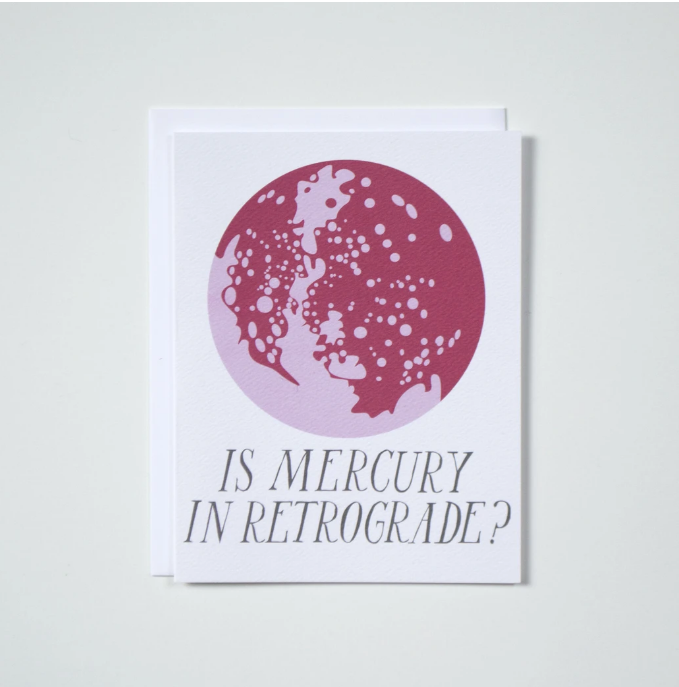 Banquet Worksop- Is Mercury in Retrograde? Card
