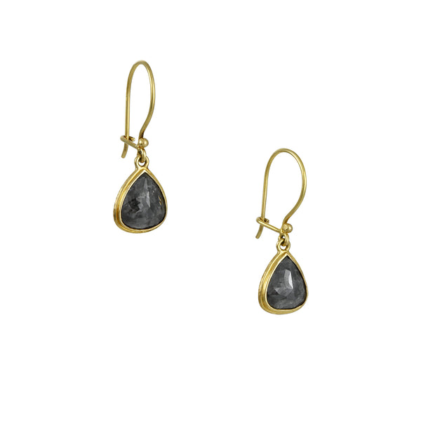 Steven Battelle - Rustic Diamond Teardrop Earrings