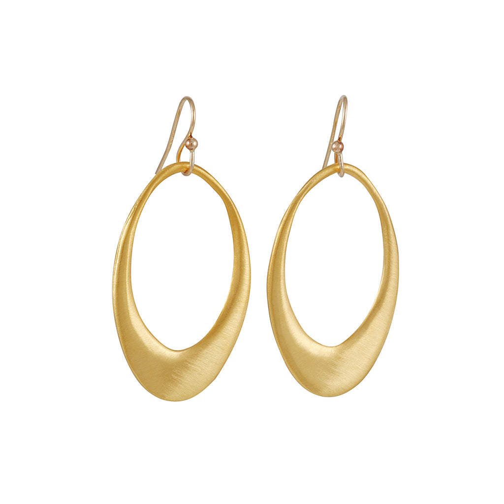 Philippa Roberts - Large Open Oval Earrings