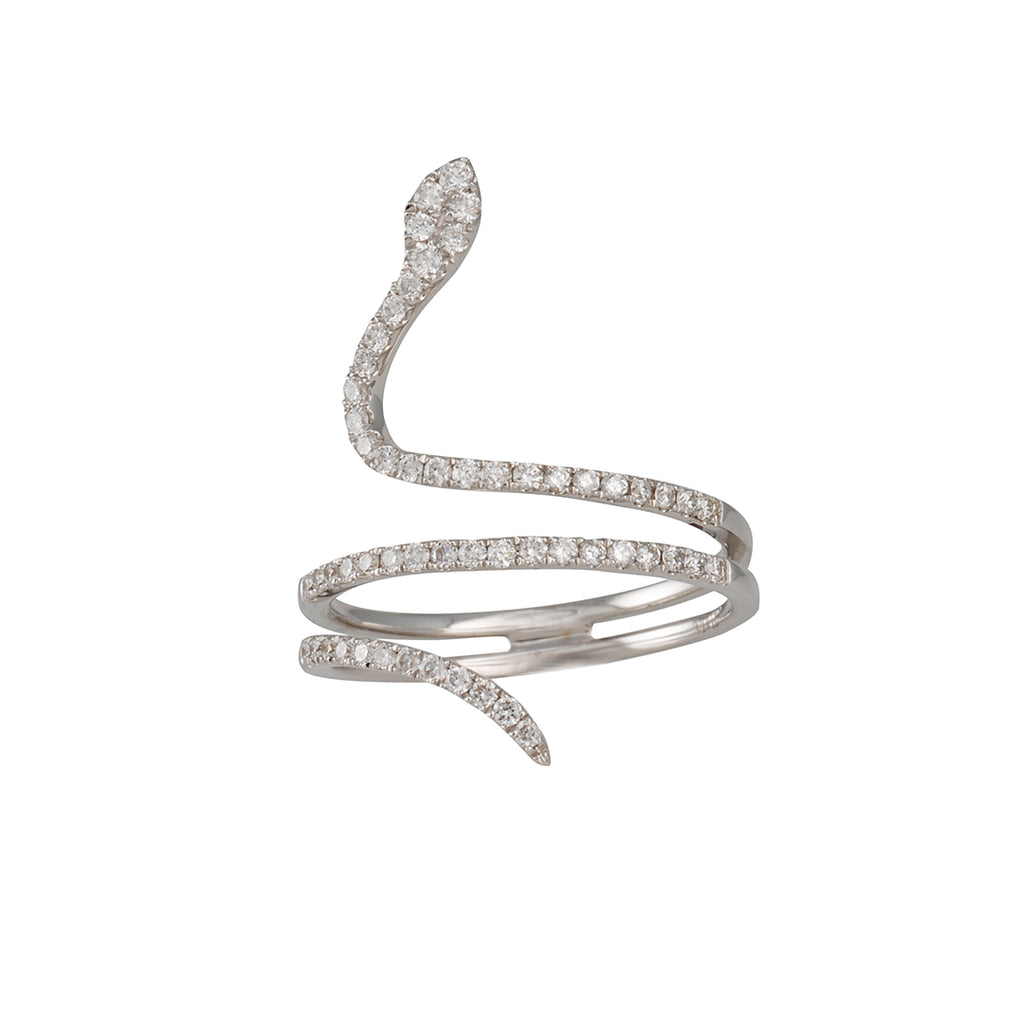 CP Collection - Diamond Snake Ring