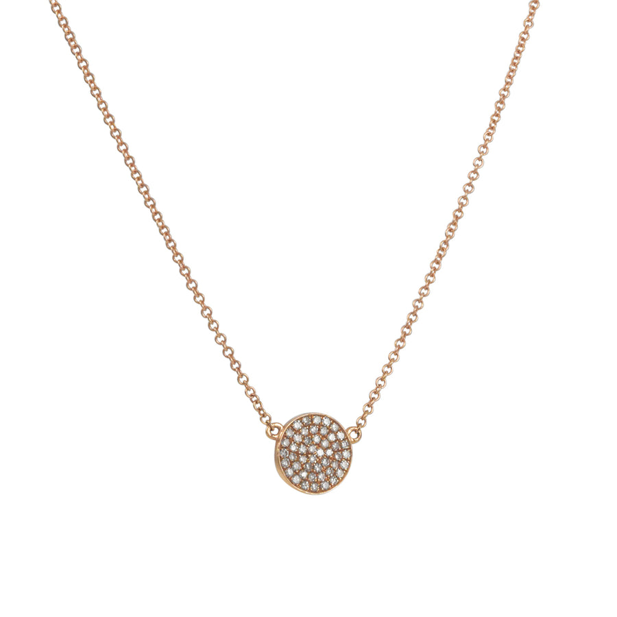 CP Collection - Pave Disc Necklace