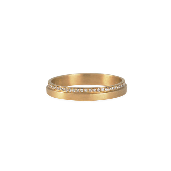 Carla Caruso - Pave One Step Band in 14K Gold