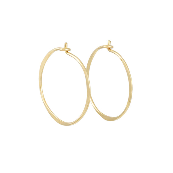 Christine Fail - Medium Round Hoops in Gold Fill