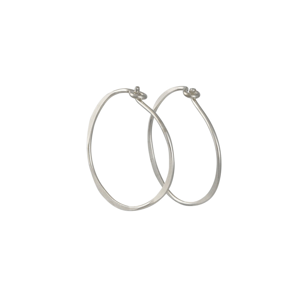 Christine Fail - Small Round Hoops in Sterling Silver