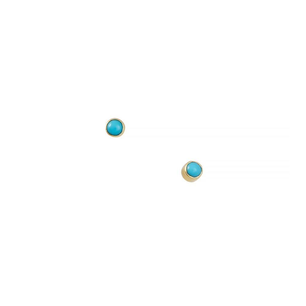 Ariel Gordon - Turquoise Dust Studs in 14K Gold