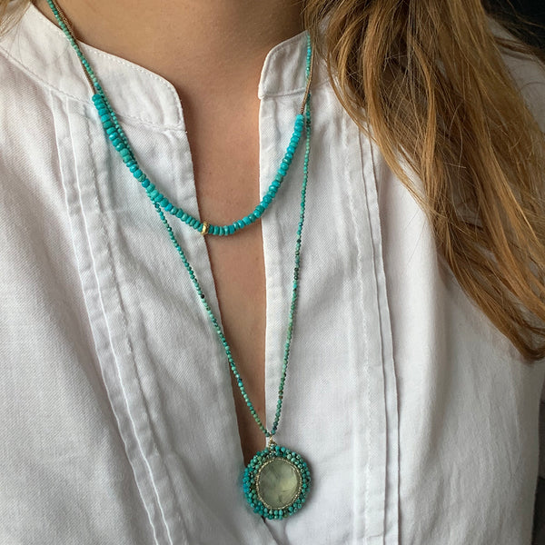 Danielle Welmond- Urchin Turquoise Necklace