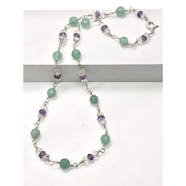 Danielle Mayes - Mint Quartz Handmade Necklace
