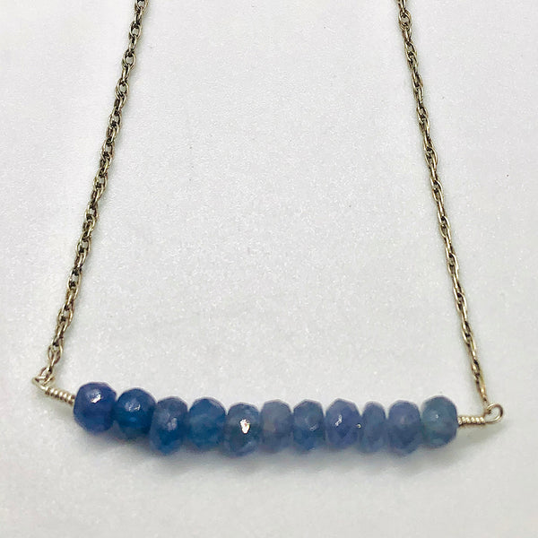 Danielle Mayes - Ombre Tanzanite Bar Necklace