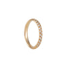 SALE - Narrow Half Pave Band in Rose Gold