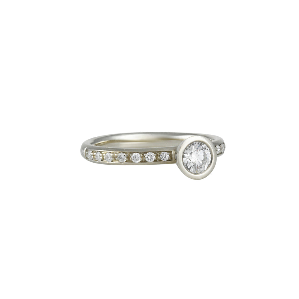 SALE - Diamond Pave Solitaire