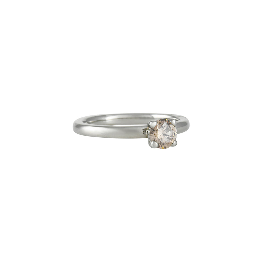 SALE - Champagne Diamond Four Prong Solitaire