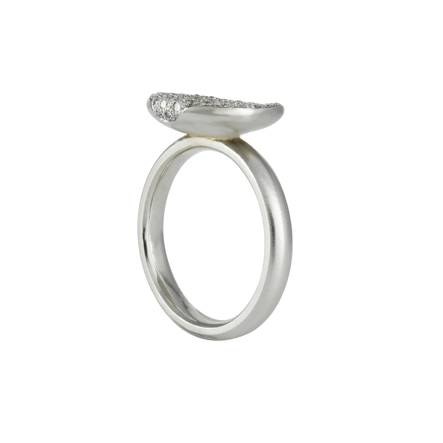 SALE  - Oval Cup Pave Setting