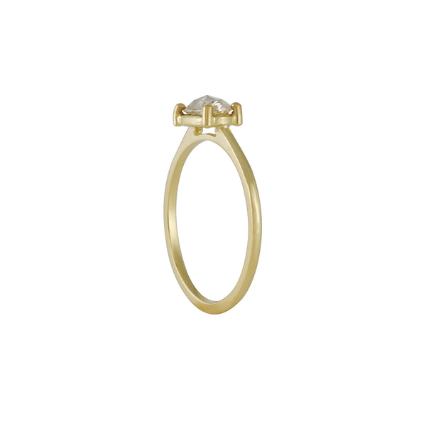 Tura Sugden- Four Prong Set Oval Rose Cut Solitaire