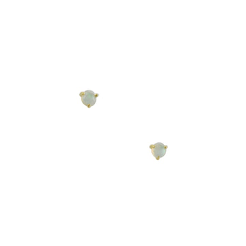 Tashi - Three Prong Opal Studs in Vermeil