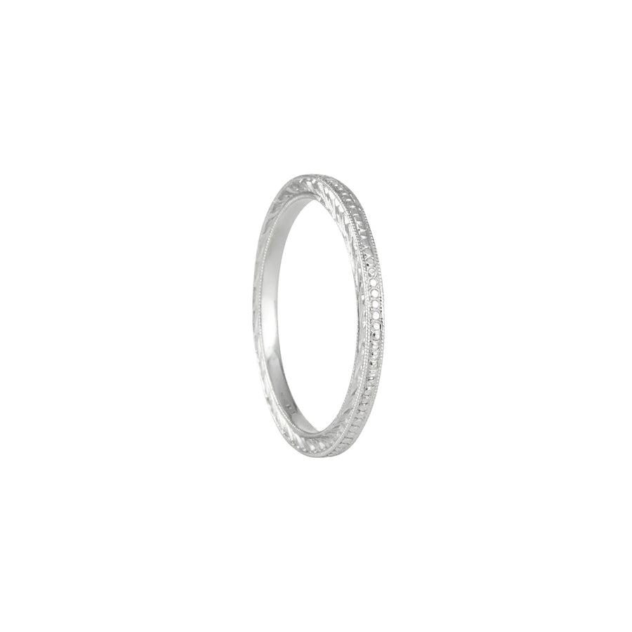 Varna - Thin Stackable Engraved Band