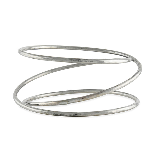 Zuzko Jewelry - Slinky Bangle Bracelet in Sterling Silver