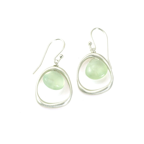 Philippa Roberts - Organic Sterling Silver and Prehnite Earrings