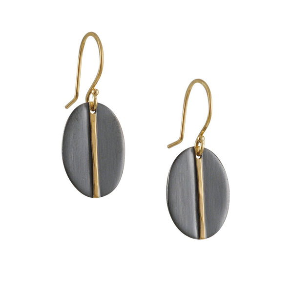 Sarah McGuire - Mixed Metal Oval Mod Earrings