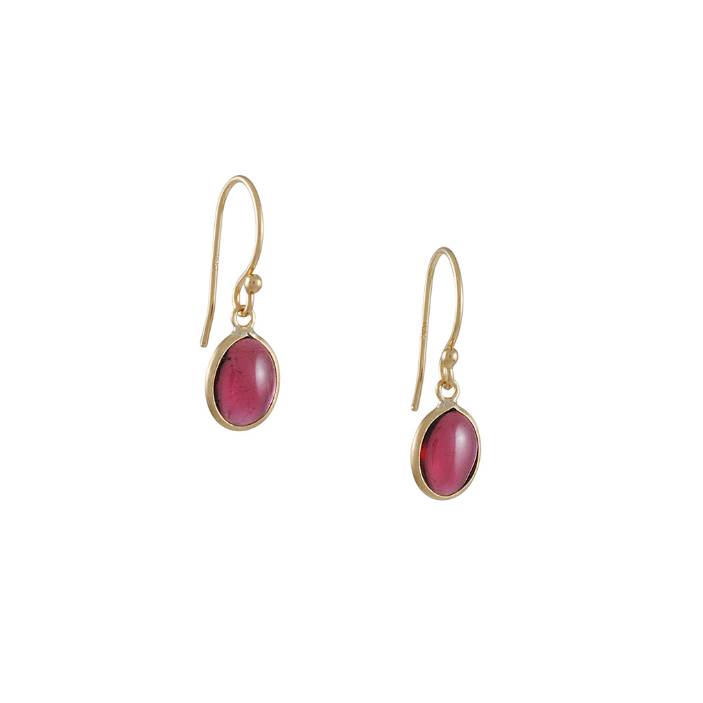 Margaret Solow Garnet Earrings
