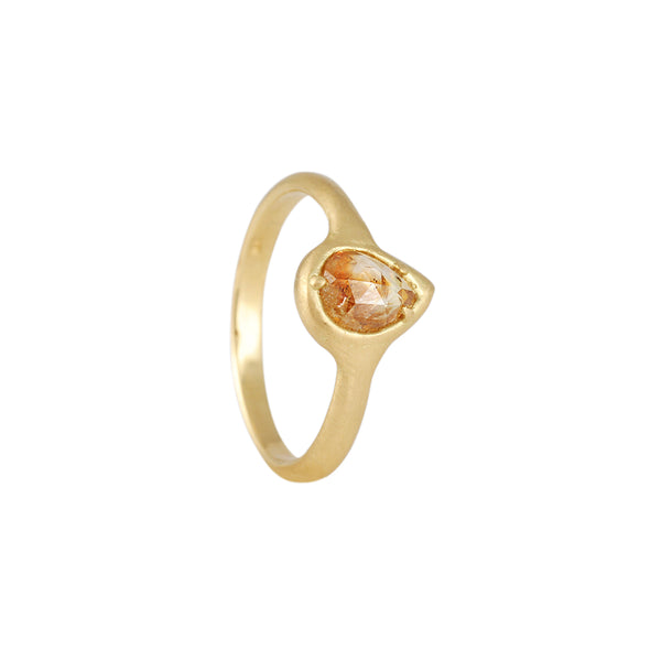 Atelier Narcé - North South Pear Shaped Rose Cut Diamond Ring