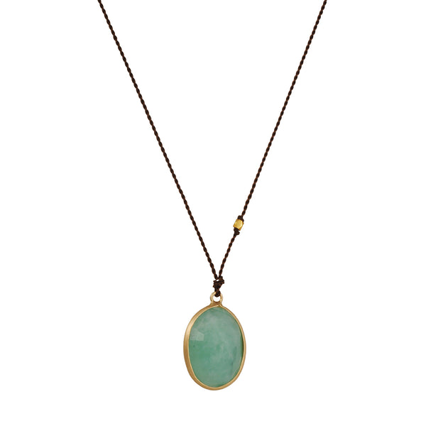 Margaret Solow - Medium Emerald Pendant Necklace