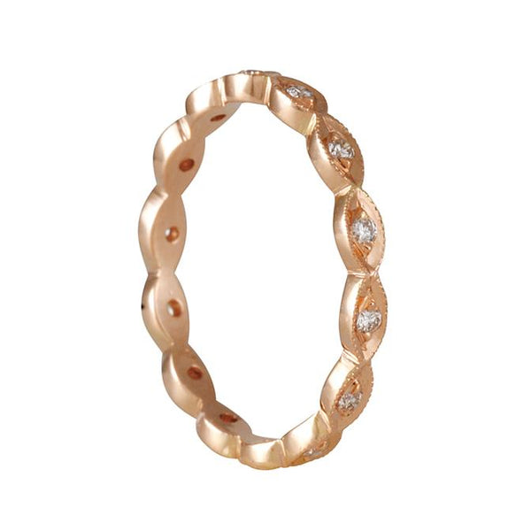 Sethi Couture - Marquise Shape Eternity Band in 18K Rose Gold