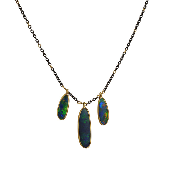 Kothari - 3 Boulder Opal Stick Necklace